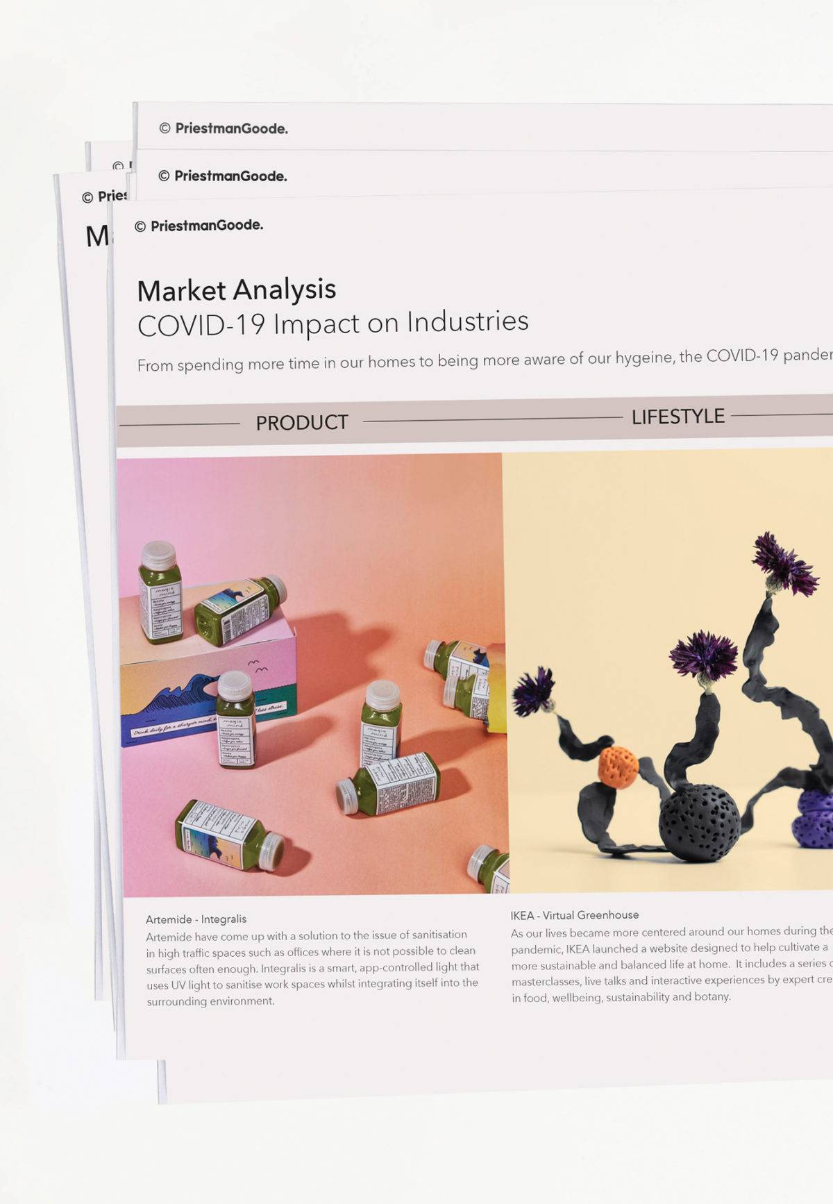 Sample pages from a trend report