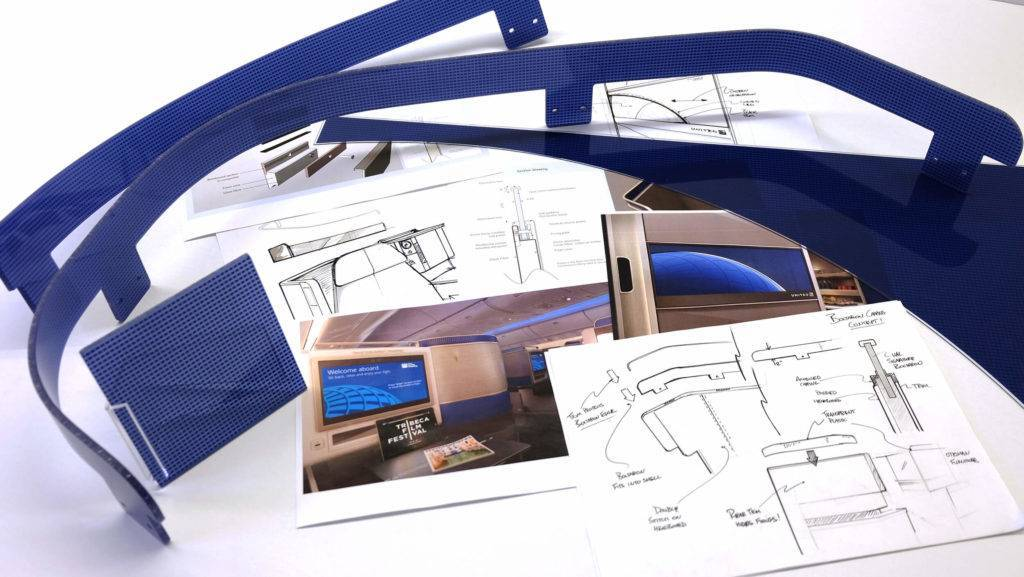 Sketches and materials of the United Polaris seat